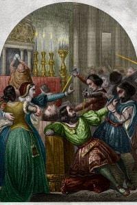 Congiura dei Pazzi, 1478. Morte di Giuliano de' Medici nel Duomo di Firenze