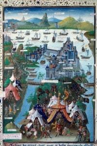 L'assedio di Costantinopoli da parte delle truppe ottomane di Maometto II, 1453