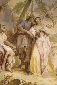 Il matrimonio, scena tratta da Il pastor fido di Battista Guarini. Affresco di Jacopo Guarana