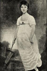 Ritratto di Jane Austen, dipinto di Johann Zoffany