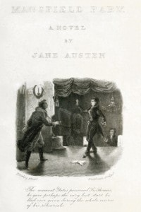 Frontespizio del romanzo Mansfield Park di Jane Austen