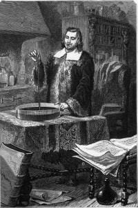 Evangelista Torricelli: fisico italiano inventore del barometro a mercurio, 1643