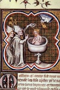 Battesimo di Clodoveo, 496