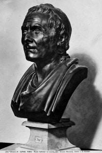 Busto di Rousseau. Opera conservata al Museo del Louvre a Parigi