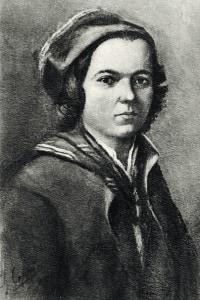Jean-Jacques Rousseau, ritratto da giovane. Scrittore, filosofo e compositore svizzero