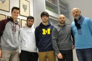 Andrea Sabatini, Lorenzo Seller, Pierpaolo Panichelli e i sub Matteo Dario e Alessandro Pelagalli