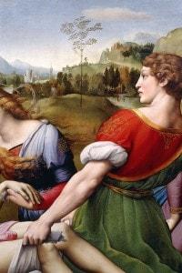Deposizione di Raffaello: dettaglio di uno dei portatori