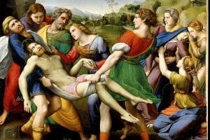 Deposizione di Cristo, 1507. Olio su tavola, cm. 179 x 174. Galleria Borghese, Roma