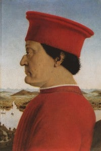 Ritratto del duca Federico da Montefeltro (1422-1482). Galleria degli Uffizi, Firenze