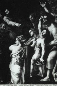 """Particolare della """"Trasfigurazione"""" di Raffaello: il ragazzo indemoniato"""