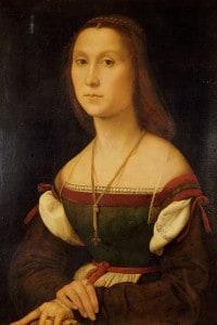 Ritratto di una donna. Raffaello Sanzio
