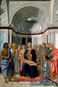 Sacra Conversazione di Piero della Francesca: opera conservata nella Pinacoteca di Brera a Milano