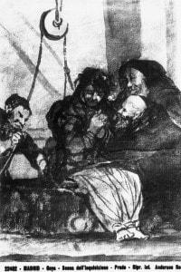 Scena dell'inquisizione, disegno di Goya conservato nel Museo del Prado a Madrid