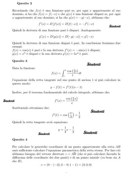 Simulazione seconda prova Scientifico: problemi e quesiti ...