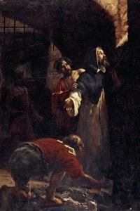 Tommaso Campanella in prigione: olio su tela di Pio Sanquirico