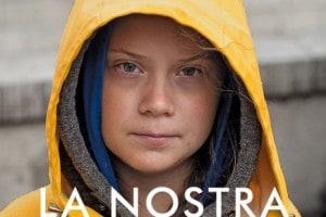 La copertina del libro di Greta Thunberg