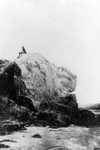Victor Hugo (1802-1885) in esilio sull'isola di Jersey, 1852