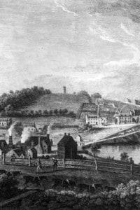 Fonderia di Shropshire, 1758. La ghisa di buona qualità viene prodotta dalla fusione di minerale di ferro con coke invece di carbone