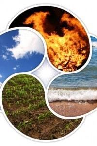 Quattro elementi: acqua, aria, terra, fuoco