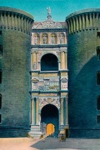 Castel Nuovo a Napoli: Arco trionfale eretto su ordine di Alfonso d'Aragona per celebrare la conquista del Rengo di Napoli nel 1443