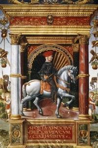 Ritratto equestre di Muzio Attendolo Sforza (1369-1424), soldato di ventura