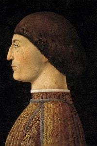 Ritratto di Sigismondo Malatesta, Signore di Rimini (1417-1468). Dipinto di Piero della Francesca