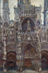 Cattedrale di Rouen. Dipinto di Claude Monet