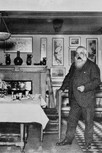 Claude Monet nella sua casa a Giverny