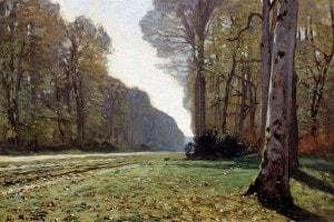 Il sentiero di Chailly nella foresta di Fontainebleau di Claude Monet
