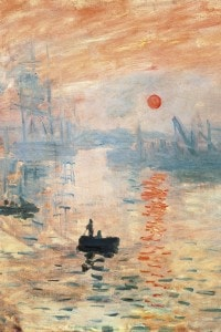 Impressione, levar del sole di Claude Monet, 1872