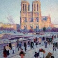 Notre Dame in un dipinto di Luce