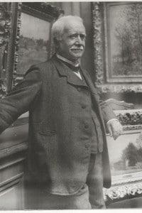 Paul Durand-Ruel (1831-1922) nella sua galleria, 1910