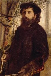 Ritratto di Claude Monet. Dipinto di Pierre-Auguste Renoir
