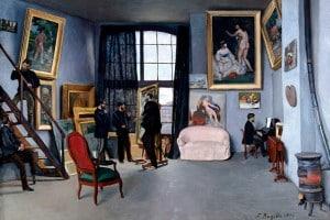 Studio di Bazille, 1870. Olio su tela di Frédéric Bazille