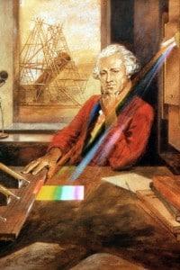 William Herschel (1738-1822): astronomo tedesco che scoprì la luce infrarossa facendo passare la luce del sole attraverso un prisma