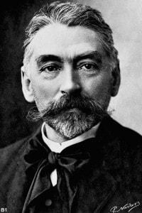 Il poeta francese Stéphane Mallarmé (1842-1898), leader del movimento simbolista, nel 1885 circa