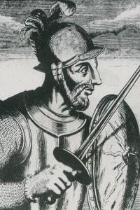 Ritratto di Diego de Almagro, condottiero spagnolo