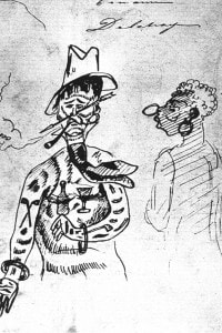 Arthur Rimbaud in Africa, disegno del suo amico Ernest Delahaye