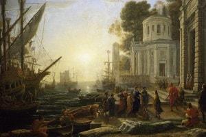 Lo sbarco di Cleopatra a Tarso; opera di Claude Lorrain conservata nel Museo del Louvre a Parigi