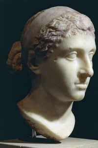 Testa di marmo di Cleopatra