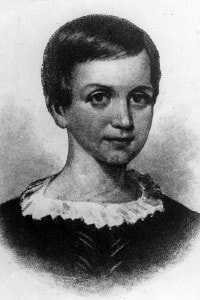 Emily Dickinson, 1850. Ha vissuto una vita intensamente isolata scrivendo oltre mille poesie