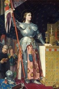 Giovanna d'Arco all'incoronazione di Carlo VII nella Cattedrale di Reims