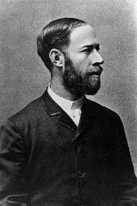 Heinrich Rudolf Hertz (1857-1894): fisico tedesco che studiò le onde elettromagnetiche e l'unità di frequenza (hertz)