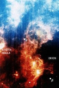 Vista a raggi infrarossi della Costellazione di Orione