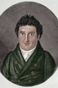 Johann Gottlieb Fichte (1762-1814). Filosofo tedesco e iniziatore dell'idealismo tedesco. Incisione di J. F. Jugel