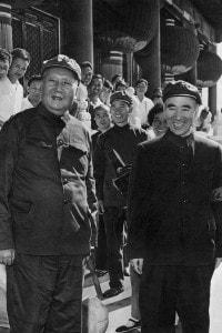 Mao Zedong e Lin Piao durante la Grande rivoluzione culturale proletaria