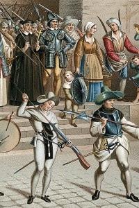 Processione della Lega Cattolica (La ligue) a Parigi nel 1590