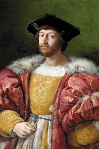 Ritratto di Lorenzo di Piero de' Medici, duca di Urbino. Opera di Raffaello Sanzio