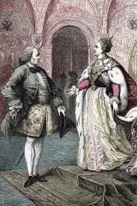 Denis Diderot e Caterina II di Russia a San Pietroburgo