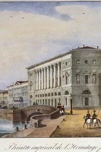 Hermitage Theatre a San Pietroburgo: il teatro fu costruito nel 1780 per volere di Caterina la Grande